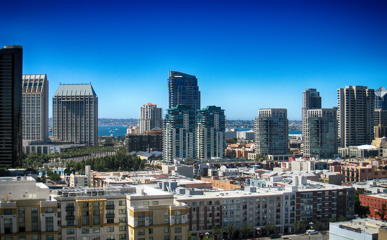 The Legend - 325 7th Ave #1901, San Diego, CA 92101 (City and peak Bay views from your balcony during the day)