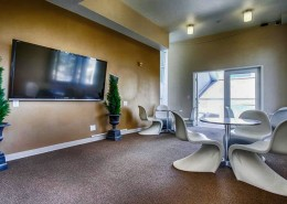 Atria Condos San Diego - Clubhouse with large TV