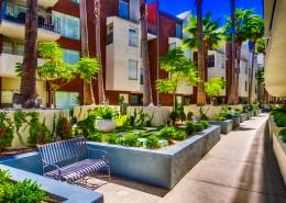 Atria Condos San Diego - courtyard