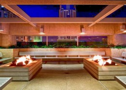 Meridian Condos San Diego - Plaza level firepits