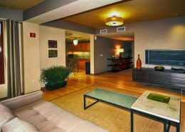 Metrome San Diego Condos - Lobby/Rec area with TV