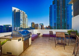 Nexus San Diego Condos - Community Terrace With BBQ