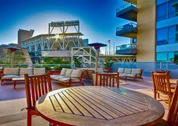 Park Terrace Condos San Diego - Terrace with Petco Park View