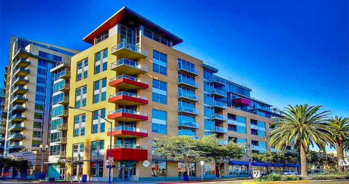 Park Terrace Condos San Diego Mid-rise at 206 Park Blvd, San Diego