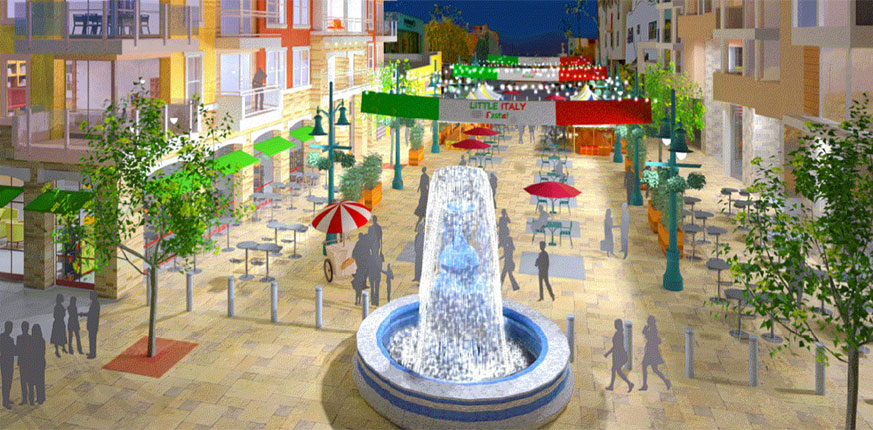 Piazza Famiglia in Little Italy San Diego breaks ground
