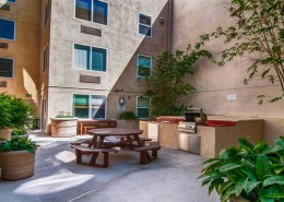 Portico Condos San Diego - Courtyard with BBQ Area