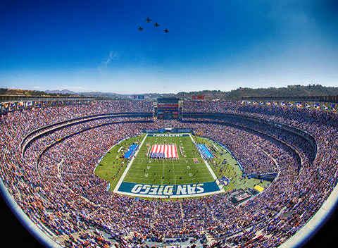 Qualcomm Stadium in Mission Valley San Diego